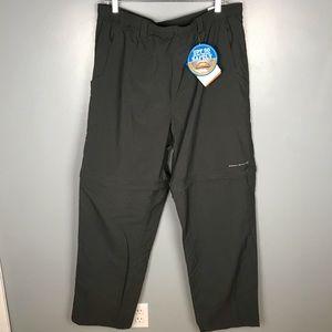 Columbia NWT Convertible Fishing Pants Gray